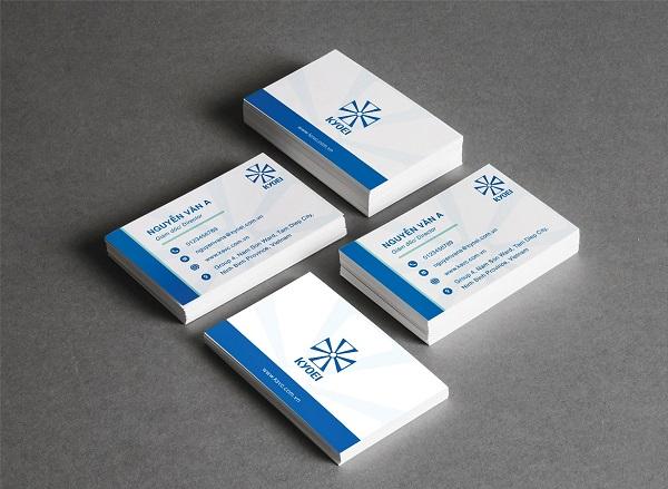 Card visit - danh thiếp của công ty Thép Kyoei Việt Nam do CBM Branding thiết kế
