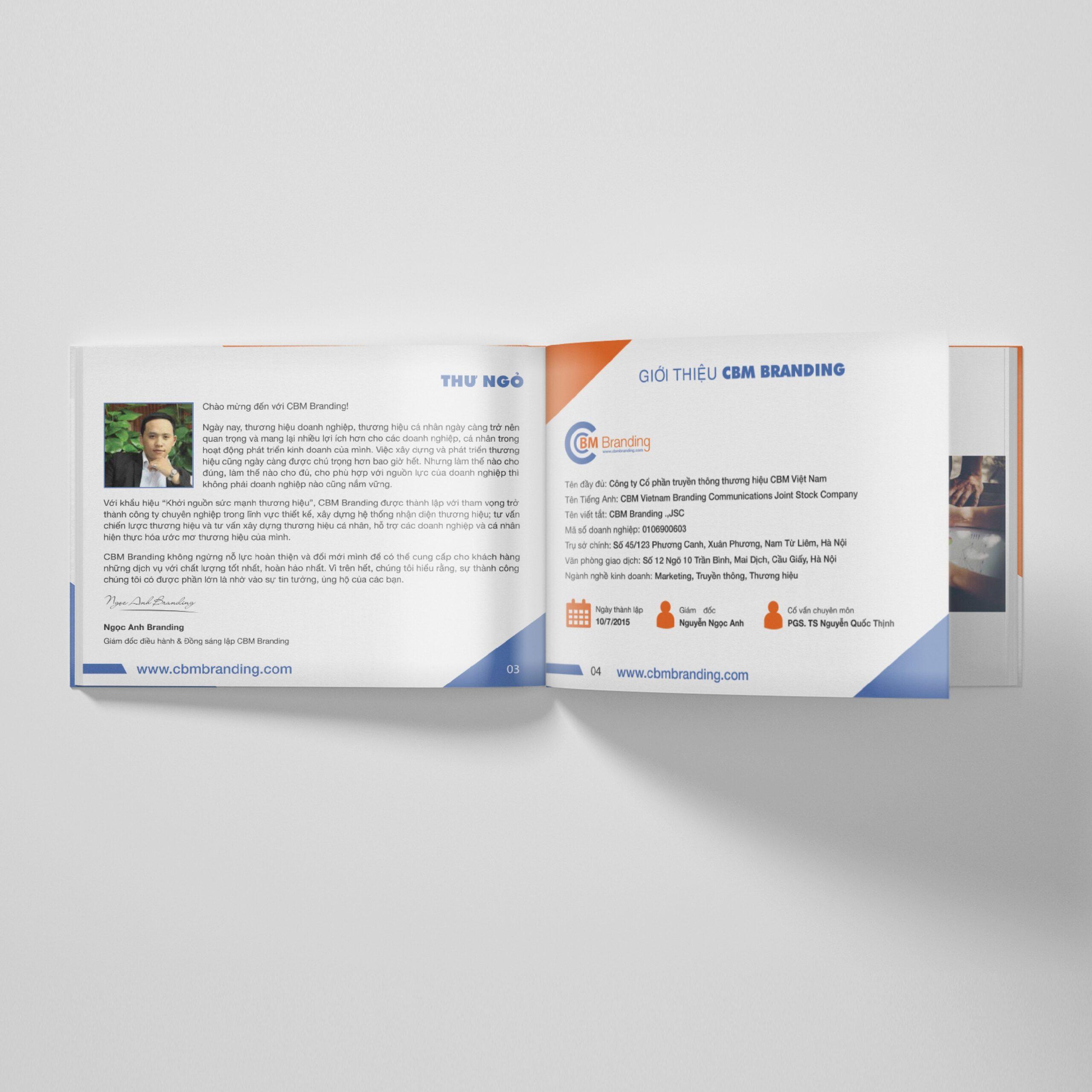 Đơn vị thiết kế profile công ty tại Hà Nội - CBM Branding