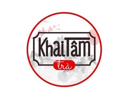 Logo của quán trà Khai Tâm do CBM Branding thiết kế