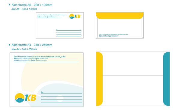 Phong bì tài liệu của KB Group - CBM Branding