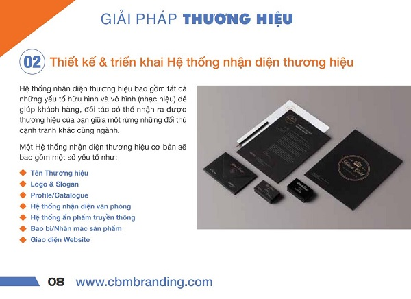 Profile giá rẻ do CBM Branding thiết kế