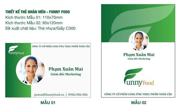 Thiết kế thẻ nhân viên đẹp tại Hà Nội - CBM Branding