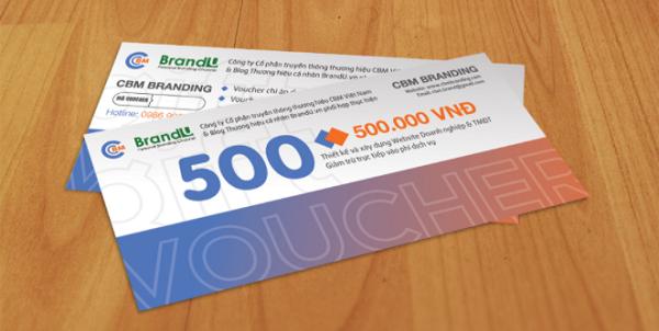 Thẻ quà tặng - phiếu giảm giá do CBM Branding cùng BrandU phát hành