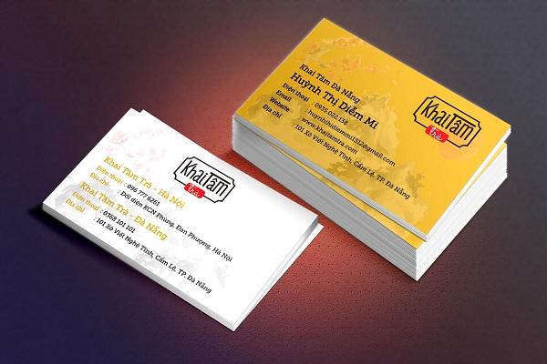 Mẫu card visit thiết kế màu vàng đẹp