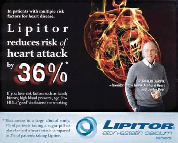 Mẩu quảng cáo Lipitor của Pfizer