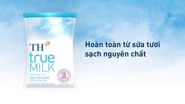 TH TrueMilk với định vị sữa sạch